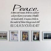 Be Calm In Your Heart Wall Decal