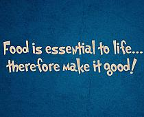 Food Is Essential Make It Good Wall Decal Item