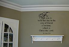 For Unto You Wall Decal