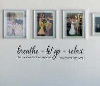 Breathe Let Go Relax 2 Wall Decal