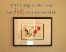 Wear Smile Wall Decal