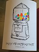 Gumball Machine Thumbprint Guest Book Print