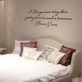 I Love You More Today Wall Decal