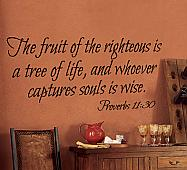 Fruit of the Righteous Wall Decal