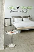 Name and Date Wall Decal