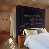 Who You Are Wall Decal