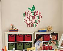 Apple Alphabet Wall Decal