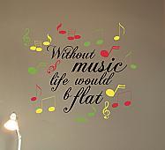 Music B Flat Wall Decal
