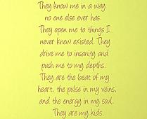 They Are My Kids Wall Decal