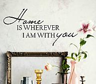 Wherever I Am With You Wall Decal