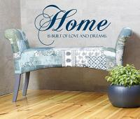 Home Love Dreams Wall Decal
