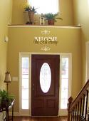 Welcome Family Name Wall Decal