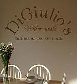 Name Where Meals Memories Made Wall Decal