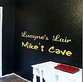 Lair & Cave Names Wall Decal