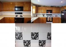 Damask Design Tile Decal