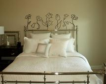 Line Draw Flower Pack Wall Decal