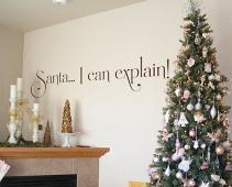 Santa Explain Wall Decal