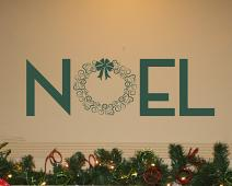 Noel Wreath Wall Decal