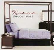 Kiss Me Like You Mean It Wall Decal