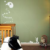 Kite Moon Wall Decal