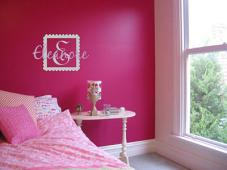 Block Letter Name Girl Wall Decal