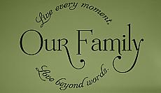 Family Live Laugh Wall Decal