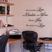 Wine and Love Wall Decal