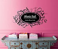 Fancy Frame Multiple Names Wall Decal
