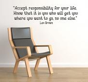 Accept Responsibility Wall Decal
