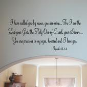 Called You By Name Wall Decal