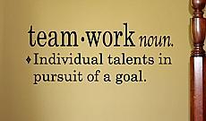Teamwork Definition Wall Decal