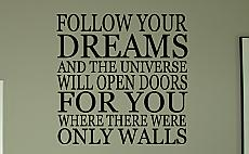 Follow Your Dreams Wall Decals