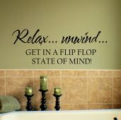 Flipflop State of Mind Wall Decal