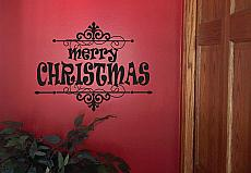 Merry Christmas  Frame   Wall Decals