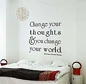 Change Your Thoughts Wall Decal