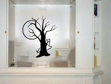 Ghost Tree Halloween Wall Decal