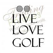 Love Golf Wall Decal