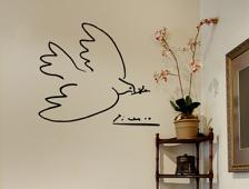 Picasso Dove LARGE Wall Decal