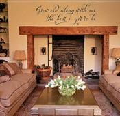 Grow Old Calligraphy Wall Decal
