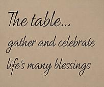 Gather Celebrate Blessings Wall Decal