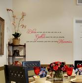 Bless Our Home Gather Memories Wall Decal