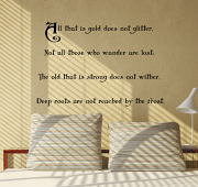 All that is gold does not Glitter Wall Decal