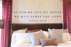 We Will Serve the Lord Wall Decal