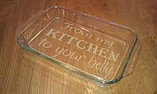 "From My Kitchen To Your Belly Stencil for 9"" x 13"" Glass Pan"