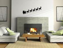 Reindeer Sleigh Wall Decal