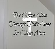 By Grace Through Faith Wall Decals