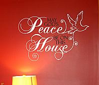 God's Peace Wall Decal