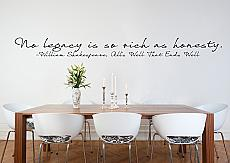 Rich As Honesty Wall Decal
