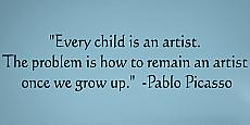 Every Child Artist Picaso Wall Decal