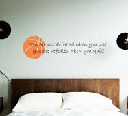 You Are Not Defeated Wall Decal